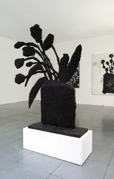 'Black Plant' by Donald Baechler Illustrations, Illustration Art, Contemporary Art Daily, Flora, Art Plastique, Installation Art, Ceramic Art, Art Inspo, Sculpture Art