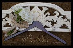 Personalized  Wedding Dress Hanger.....Great Gift...Bridesmaid, Shower, Flower Girls