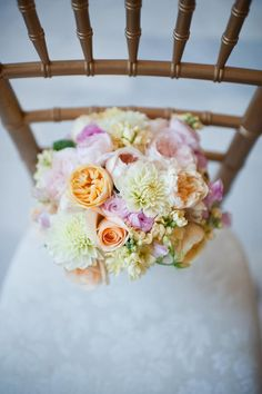 A pastel bouquet for a spring wedding