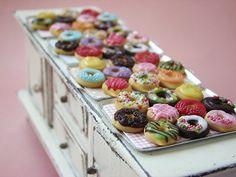 Miniature Food - Dumdidum Donuts! by PetitPlat - Stephanie Kilgast, via Flickr