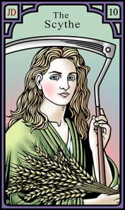 The Scythe for the Burning Serpent Oracle, Robert M Place
