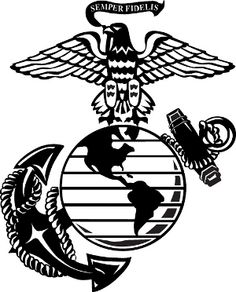 Marine Corps Symbol, Marine Corps Shirts, Marine Corps Emblem, Silhouette Painting, Silhouette Clip Art, Silhouette Cameo Projects, Marine Tattoo, Usmc Tattoos, Car Tattoos
