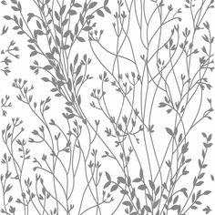 Ein Blumen-Muster in grau zeigt die 1514-45 Vliestapete aus der Kollektion Schöner Wohnen 2 von livingwalls.Besuchen Sie TAPETENMAX für weitere Tapeten.