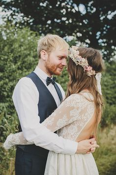 A Floral Crown And Backless Gown For An Enchanting Woodland Wedding - Love My Dress UK Wedding Blog