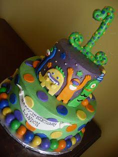 Cake Whimsy: Monster 1st Birthday Cake