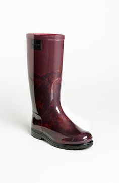 valentino lace print rain boots.. prettiest things i've ever seen