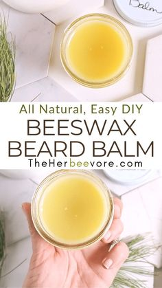 Beeswax Recipes, Beard Wax, Hair Balm, Beard Conditioner, Beeswax Lip Balm, Homemade Deodorant, Incredible Recipes, Honey Recipes, Pin Pin