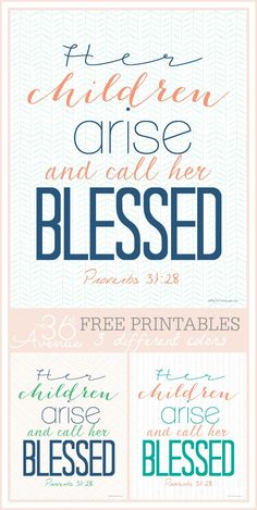 Mothers Day Wall Art   Her children arise and call her blessed
