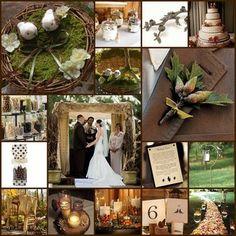 Wedding, Green, Brown, Gold, Inspiration, Board, Copper