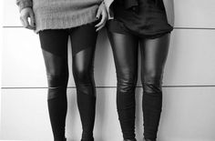 Leggings mit Ledereinsätzen II