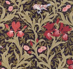Needlepoint canvas. William Morris Fabric pattern. Great pillow canvas!