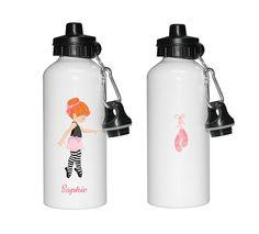 Personalised water bottle, Ballet water bottle, Dance water bottle, water bottles for girls, sports bottles, by cjcprint on Etsy