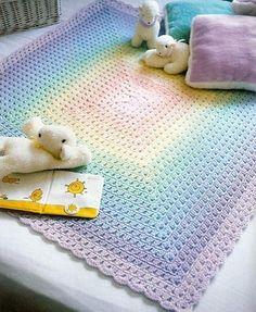 Pastels Baby Blanket free crochet graph pattern