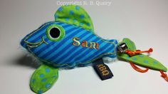 Fish Catnip Cat Toy  with Bell Sam reserved for Silvia by RBQuery, $11.75