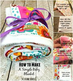 How to make a simple baby blanket #blankettutorial