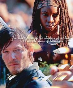 Daryl and Michonne - if they had a kid, it would be the most bad ass kid ever. EVER.