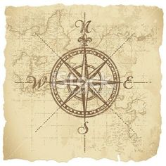 Compass. Love the atlas shading in the background.