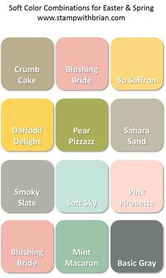 Color Inspiration for Easter and Spring-- Soft Pastels and a Neutral