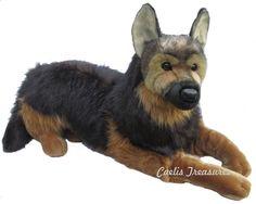 "Douglas Major GERMAN SHEPHERD DOG 32"" Lying Plush Stuffed Animal NEW #DouglasCuddleToy"