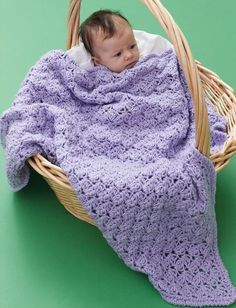 This One Skein Lilac Blanket is the best free crochet pattern to make for any little baby in your life. Beautiful light purple yarn makes this an excellent choice for a spring baby, but you're welcome to use any color Caron One Pound yarn for this particular crocheted afghan. The texture and timeless design of this baby blanket makes this a classic item that will be cherished for years to come. Plus, it works up quickly, making this a wonderful choice for holiday gifts and baby showers.