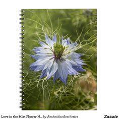 Love in the Mist Flower Notebook