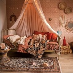 interior 2 may Dream Rooms, Dream Bedroom, Girls Bedroom, Bedrooms, Bohemian Bedroom Decor, Hippie Chic Decor, Bohemian Style, Boho Nursery, Decoration Design