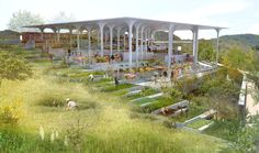 Lightweight Concrete Structure Wins Competition for New Gramalote Market Plaza,Courtesy of Rodrigo Chain + Jheny Nieto