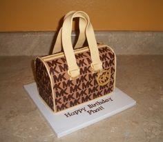 Michael Kors Purse Cake by cakesbykayla on Cake Central