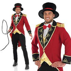Mens ring #master #fancy dress costume circus lion tamer #tailcoat outfit m-xl, View more on the LINK: http://www.zeppy.io/product/gb/2/291835418709/