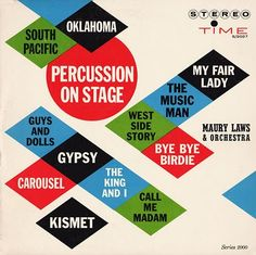 Percussion on Stage album cover, via Project Thirty-Three.