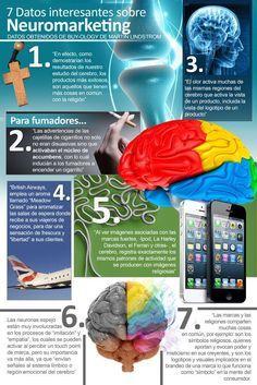 7 datos interesantes sobre neuromarketing #infografia #infographic #marketing