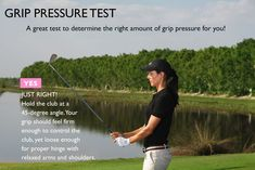 To find the optimal grip pressure, hold the club at a 45 degree angle. This is your grip pressure. The trick is to maintain this pressure from the start of your swing to the finish. #TheBestGolfTips