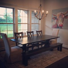 James X Trestle Table Wtih Endcaps No Apron In Midnight Stain With A Finish Pictured Matching Farmhouse Bench Double Back Chairs
