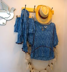 As blue as the ocean can be... Our favorite easy breezy summer outfit in store now. Come and jump in -x-