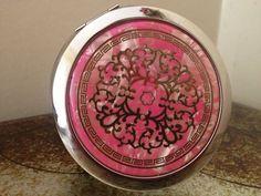 Pink Steel Mirror Handbag Compact Mirror- Birthday Wedding Occasion Gift