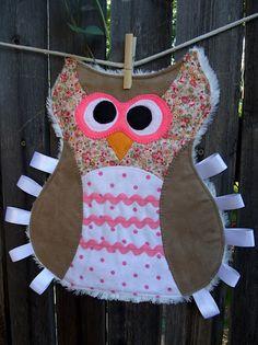 Owl Tag Blanket tutorial