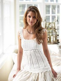 Lace-Inspired Crocheted Top - Oh so cute! http://www.bhg.com/crafts/knitting/clothing/lace-inspired-crocheted-top/