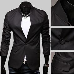 New Fashion Stylish Men's Suit Men's Blazer Business Suit Black & Gray