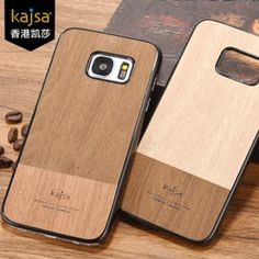 kajsa Outdoor Collection Rosewood Pattern PC+PU Leather Back Case for Samsung Galaxy S7 G9300/ S7 Edge G9350