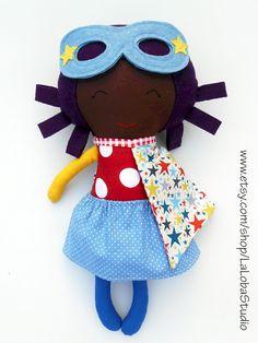 LA muñeca, muñeca negra, muñeco de trapo, muñeca de superhéroes, muñecas de tela, muñecas, muñecas de trapo, muñecas hechas a mano, muñeca afroamericana, muñeca personalizada, softtoy de LaLobaStudio en Etsy https://www.etsy.com/es/listing/246598683/la-muneca-muneca-negra-muneco-de-trapo