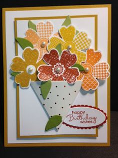 July 2016 Paper Pumpkin Alternate Card, Birthday Card, Stampin' Up!, Rubber Stamping, Handmade Cards
