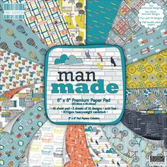 Timcraft 48-Piece 8 x 8-inch Man Made Papers