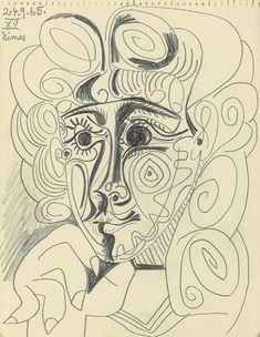 """Pablo Picasso - """"Head of a Woman"""", 1965"""