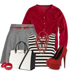 Red Gray and white Contest, created by jackaford-bittick on Polyvore