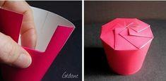 Boîte cadeau avec des gobelets en carton, Tuto pour faire