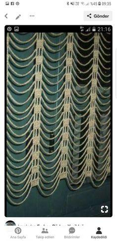 Curtains, Crochet, Prints, Handmade, Home Decor, Crochet Curtains, Molde, Home, Dressmaking