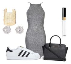 """""""Untitled #34"""" by coolkidkiya ❤ liked on Polyvore featuring Oh My Love, adidas, Michael Kors, River Island, Charlotte Russe and Chanel"""