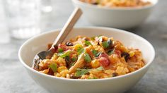 Slow-Cooker Southwest Cheesy Chicken and Rice From: Betty Crocker Destined to become a new family favorite, this slow-cooker dinner dishes out lots of love in the form of extra-cheesy rice, tender chicken, black beans and corn. Crock Pot Slow Cooker, Crock Pot Cooking, Slow Cooker Chicken, Slow Cooker Recipes, Crockpot Recipes, Chicken Recipes, Cooking Recipes, Corn Recipes, Rice