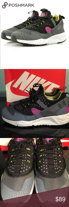 334ea18cf Nike Air Huarache Utility Dark Grey Medium Berry
