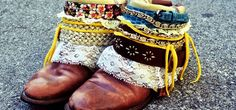 DIY: Boho Boots - website is in German (I think) but the pictures explain well.